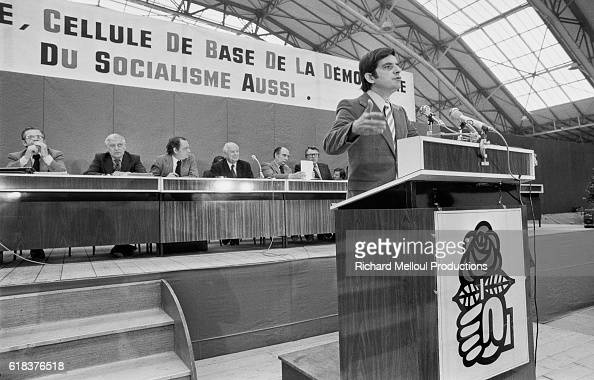 French politician JeanPierre Chevenement speaks during the Socialist Party's extraordinary congress in 1976 The Leftists came together for the...