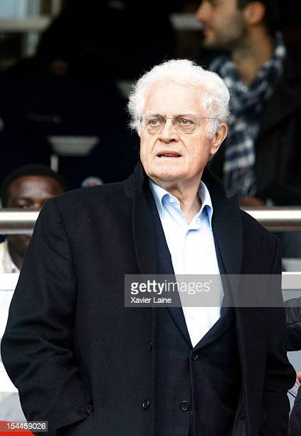 French politician Lionel Jospin attends the French Ligue 1 match between Paris SaintGermain and Stade de Reims Champagne at Parc des Princes on...