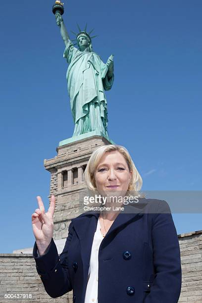French politician Marine Le Pen is photographed for Paris Match on April 21 2015 in New York City