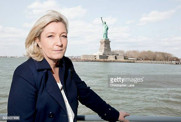 French politician Marine Le Pen is photographed for Paris Match on April 21 2015 in New York City PUBLISHED IMAGE