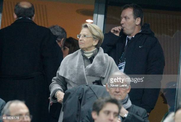 French Politician Michele AlliotMarie attends the international test match between France and South Africa at Stade de France on November 23 2013 in...