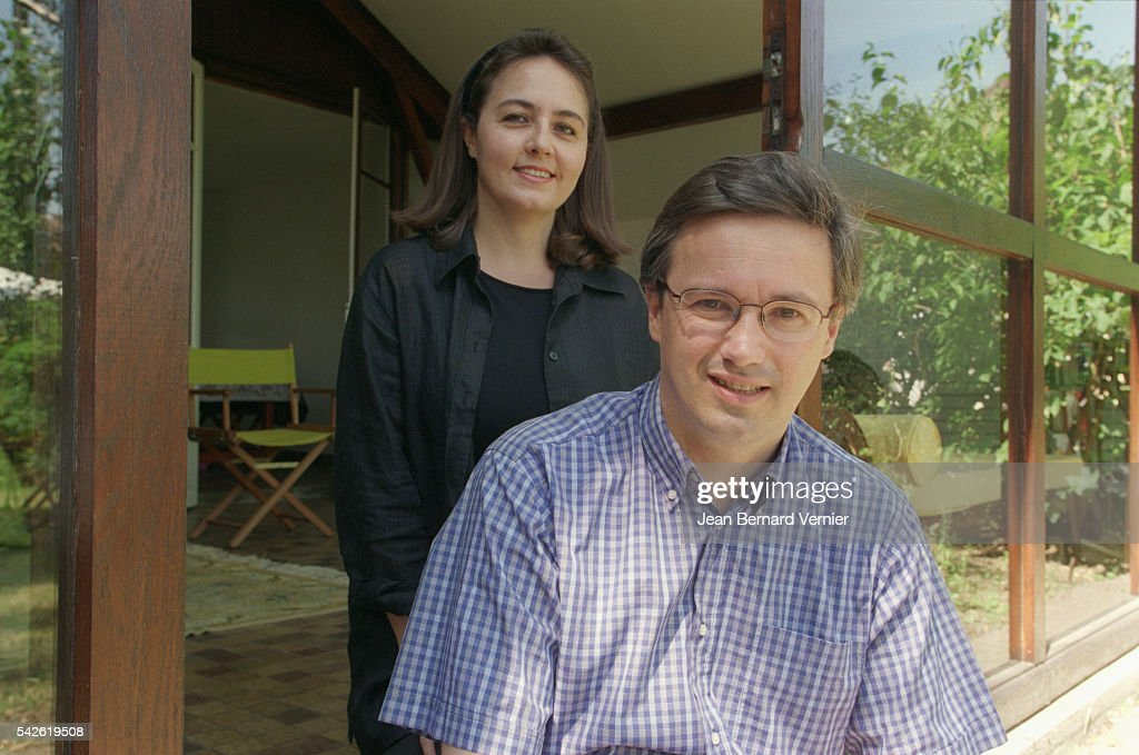 French politician <a gi-track='captionPersonalityLinkClicked' href=/galleries/search?phrase=Nicolas+Dupont-Aignan&family=editorial&specificpeople=2205738 ng-click='$event.stopPropagation()'>Nicolas Dupont-Aignan</a> and his wife relax at home in Yerres.