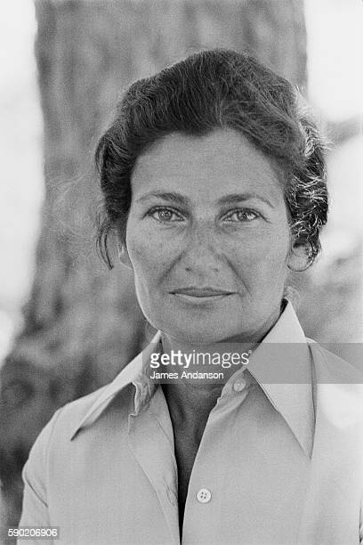 French politician Simone Veil at home in Sainte Maxime France 10 August 1974