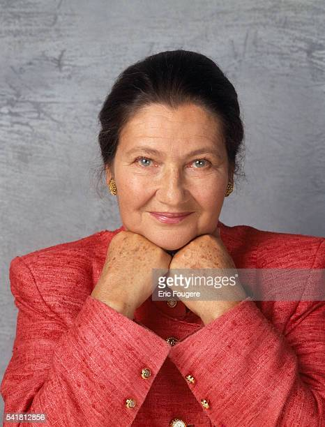 French politician Simone Veil former minister and first President of the European Parliament