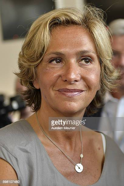 French politician Valerie Pecresse attends the Medef summer University conference on August 31 2016 in JouyenJosas France The Medef summer University...
