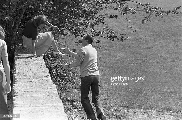 French politicians Jacques Chirac and his wife Bernadette on vacation in Correze France 23rd August 1975