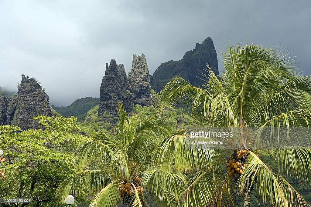 French Polynesia, Hatiheu Bay, Nuku Hiva Island : Stock Photo