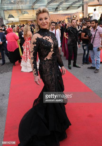 French pop singer Sheila arrives for the 16th annual Murex d'Or awards ceremony held in Jounieh north of Beirut on May 28 2016 / AFP / ANWAR AMRO