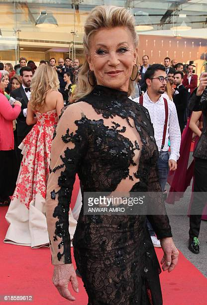 French pop singer Sheila poses for a photograph as she arrives for the 16th annual Murex d'Or awards ceremony held in Jounieh north of Beirut on May...