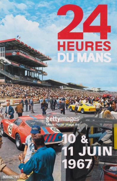 A French poster for the racing event 24 Hours of Le Mans in June 1967