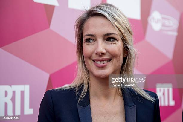 French presenter and host of radio and television Sidonie Bonnec attends a press conference of RTL radio which announces its 2016/2017 schedule on...