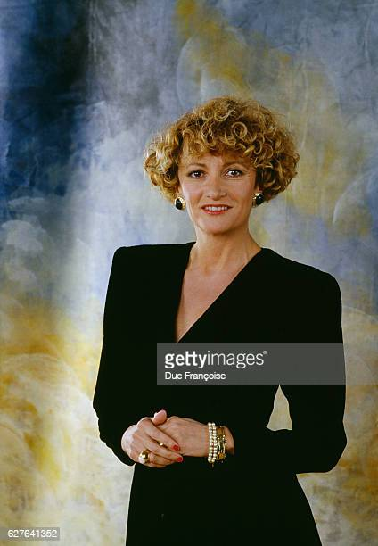 French presenter Eve Ruggieri at the 1987 International Cannes Film Festival