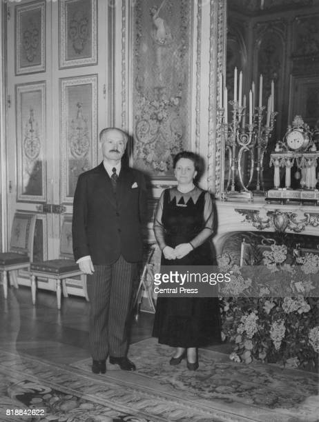 French president Albert François Lebrun and his wife during a visit to London 1939