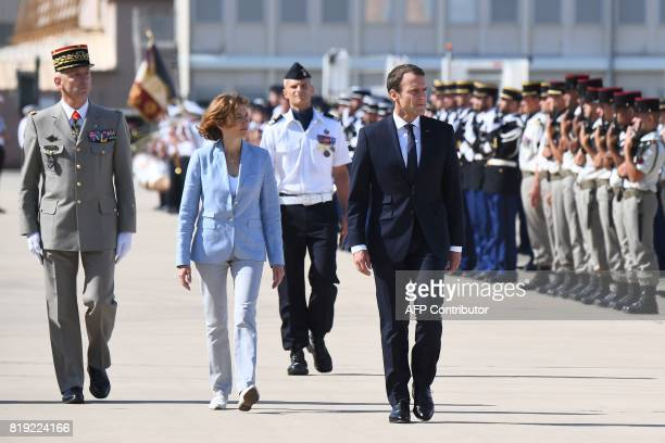 French President Emmanuel Macron French Defence Minister Florence Parly and newly appointed French army Chief of Military Staff Francois Lecointre...