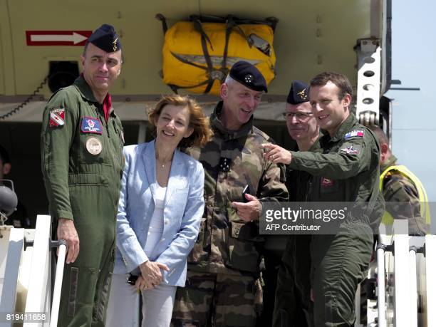 French President Emmanuel Macron French Defence Minister Florence Parly and newly appointed French chief of military staff General Francois Lecointre...