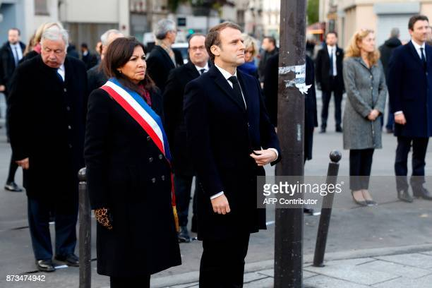 French President Emmanuel Macron Paris mayor Anne Hidalgo French Justice Minister Nicole Belloubet French Junior Minister for Finance Benjamin...