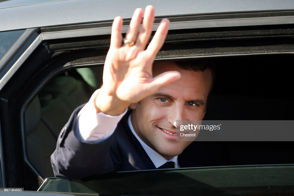 French President Emmanuel Macron Votes In Le Touquet