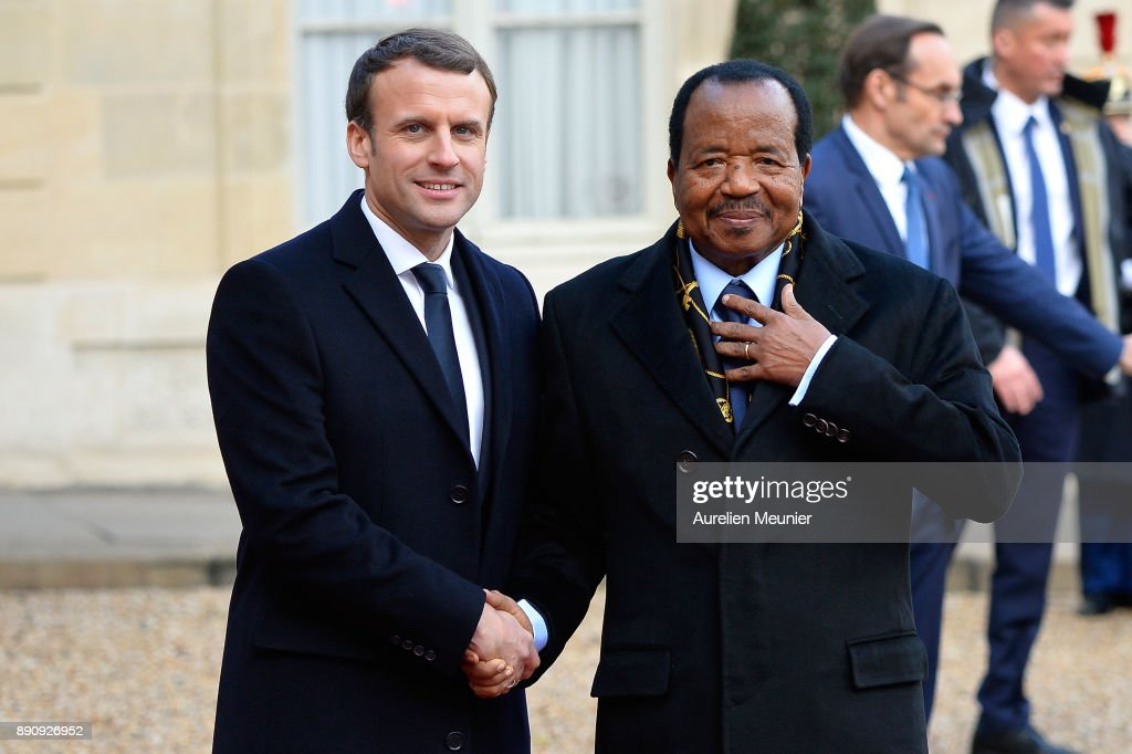 French President Emmanuel Macron Receives One Planet Summit's International Leaders At Elysee Palace In Paris