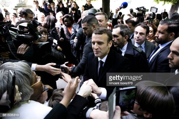 French President Francois Hollande and Emmanuel Macron New French President elected former leader of the political movement that he founded 'En...