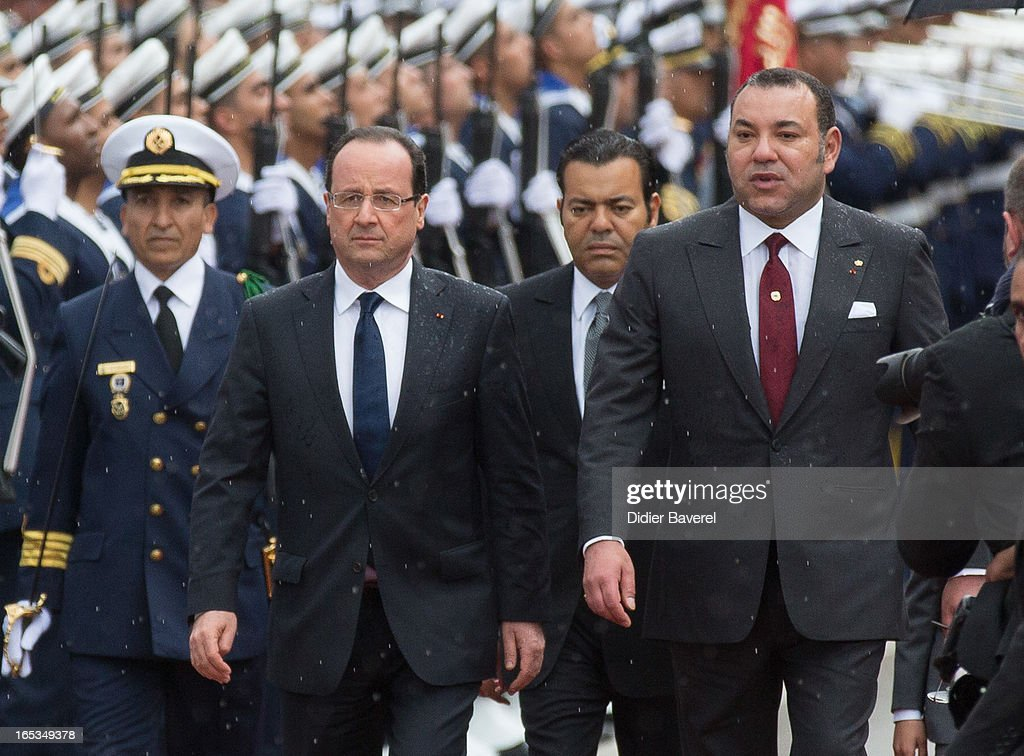 French President Francois Hollande On An Official Two Day Visit In Morocco