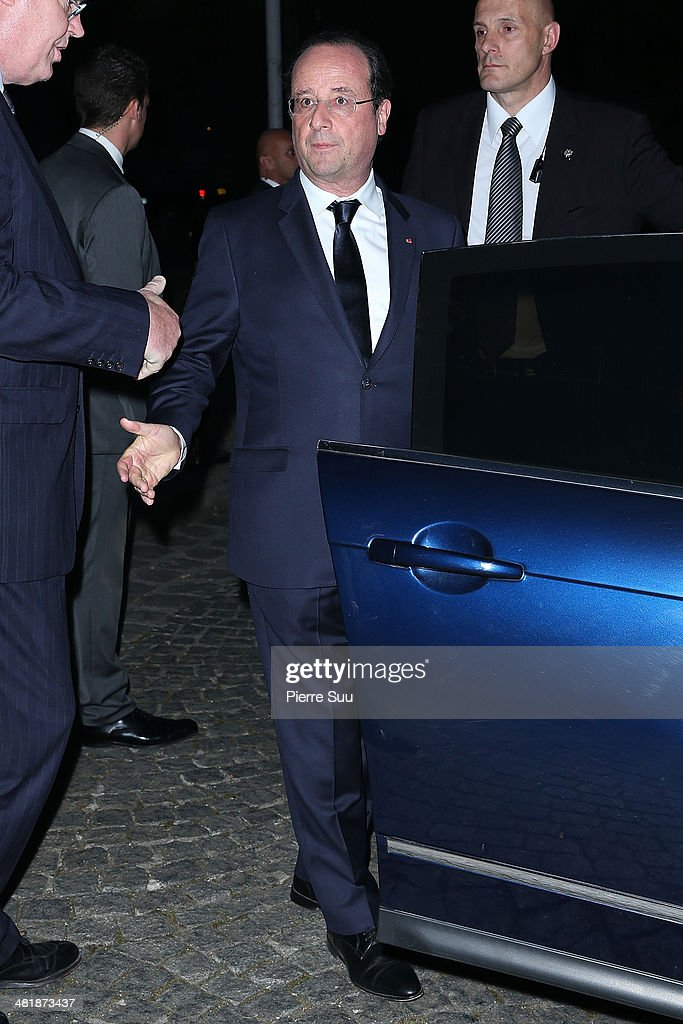 French President Francois Hollande attends the UNITAID Party at the Palais d'iena on April 1, 2014 in Paris, France.