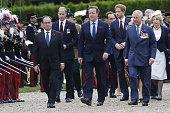 French President Francois Hollande Britain's Prince William Britain's Prime Minister David Cameron Britain's Prince Harry Britain's Prince Charles...