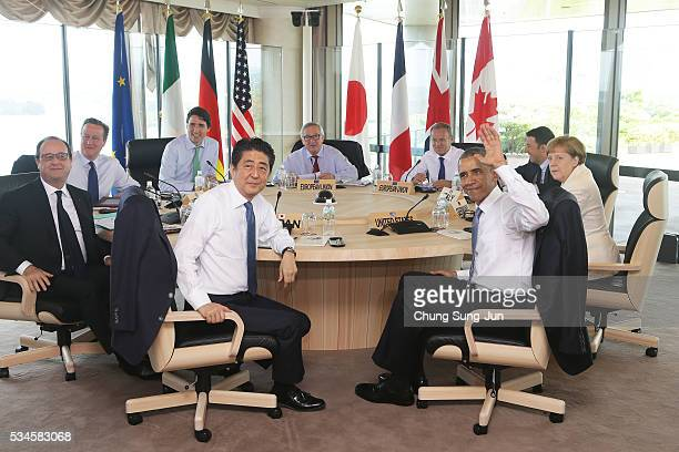 French President Francois Hollande British Prime Minister David Cameron Canadian Prime Minister Justin Trudeau Japanese Prime Minister Shinzo Abe...