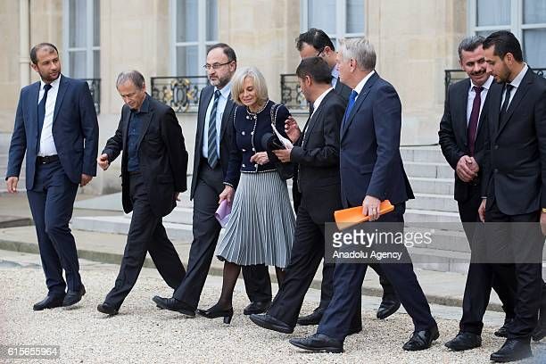 French President Francois Hollande French Foreign Affairs Minister JeanMarc Ayrault President of the Foreign Affairs at the French assembly Elisabeth...