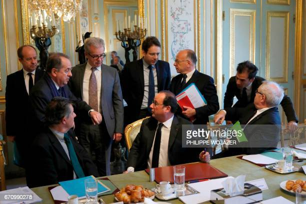 French President Francois Hollande French President's Chief of Staff JeanPierre Jouyet French Interior Minister Matthias Fekl French Prime Minister...
