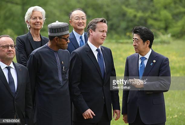 French President Francois Hollande International Monetary Fund Managing Director Christine Lagarde Nigerian President Muhammadu Buhari President of...