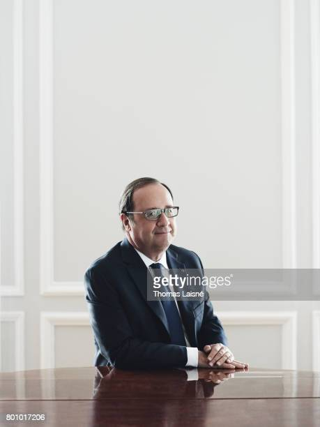 French President Francois Hollande is photographed on June 6 2017 in Paris France