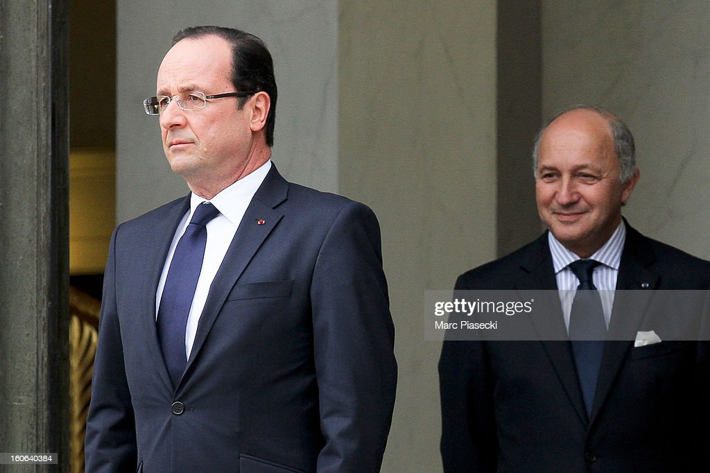French President Francois Hollande prepares to greet US Vice President Joe Biden after a meeting at Elysee Palace on February 4, 2013 in Paris, France. The Vice President is on a five-day visit to Europe, where he met with German Chancellor Angela Merkel and next will travel to London to meet with British Prime Minister David Cameron.