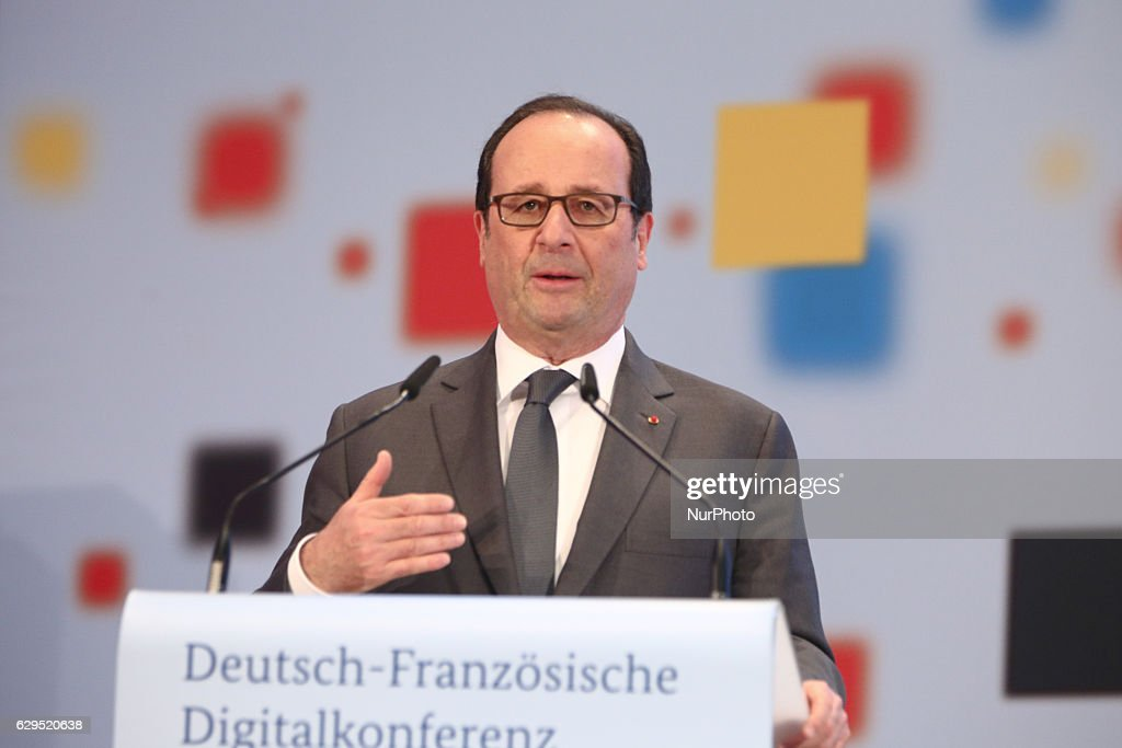 German Chancellor Angela Merkel and French President Francois Hollande meet in Berlin