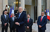 French President Francois Hollande receives Lebanon Prime minister Najib Mikati at Elysee Palace Paris FRANCE Photo By Christianliewig/Corbiscom