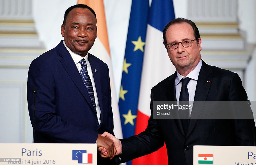 French President Francois Hollande Receives Mahamadou President of Niger