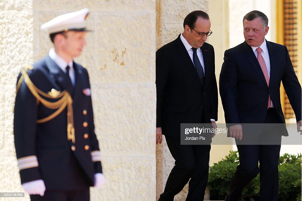 French President Hollande Visits Jordan