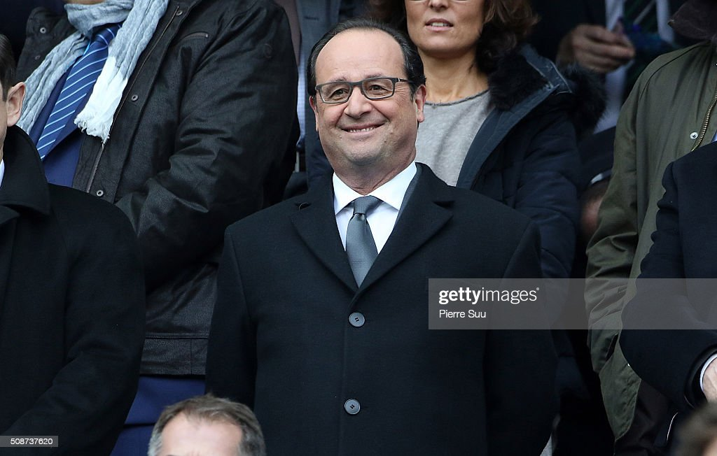 French President Franois Hollande attends RBS Six Nations match between France and Italy at Stade de France on February 6, 2016 in Paris, France.