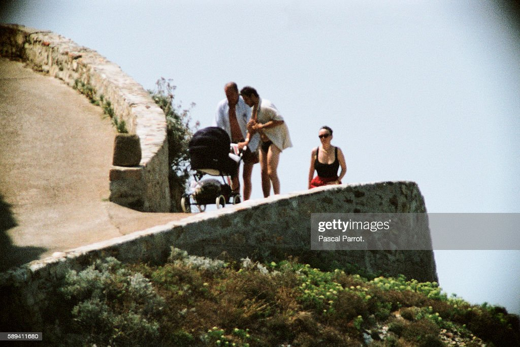 French President Jacque Chirac on vacation with his daughter and soninlaw at the Fort of Bregancon