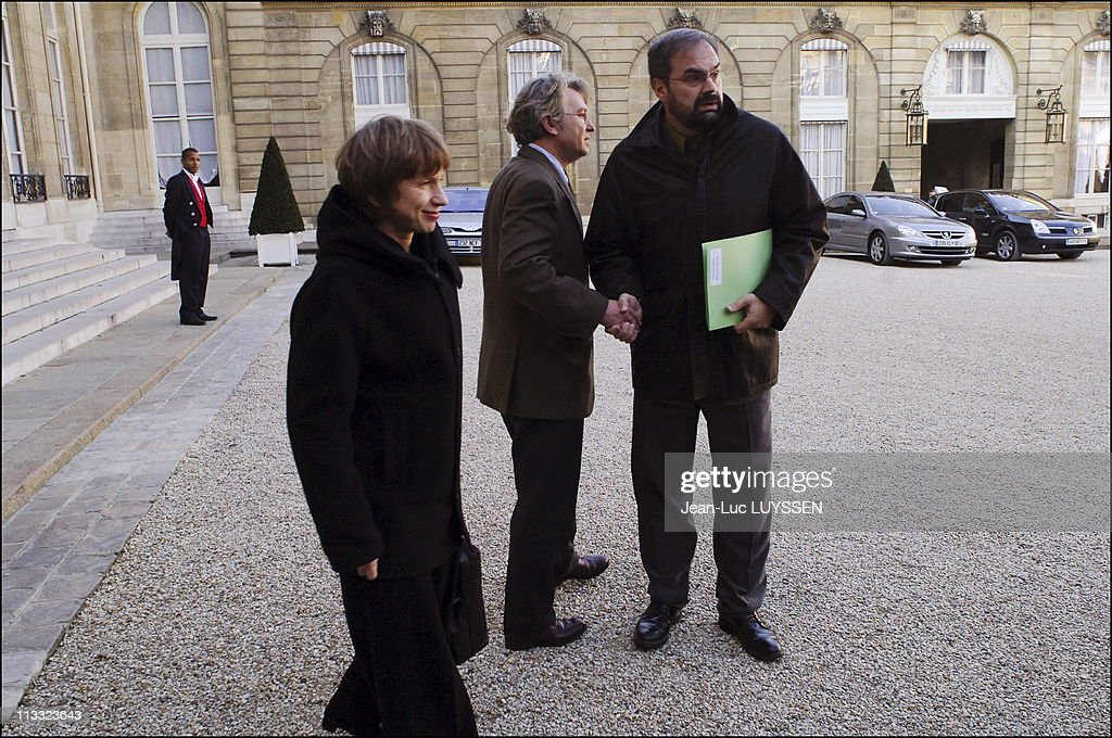 French President Jacques Chirac Receives Trade Union Leaders To Discuss Diversity And Equal Employment Opportunity On November 22Nd 2005 In Paris...