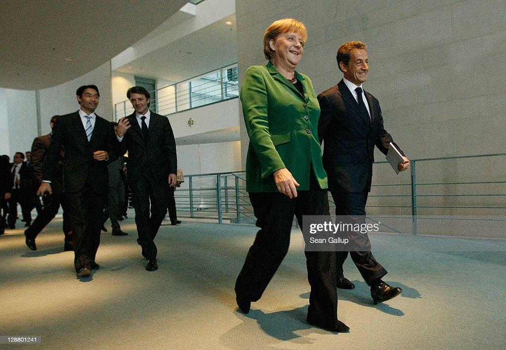 Sarkozy And Merkel Meet Over Debt Crisis