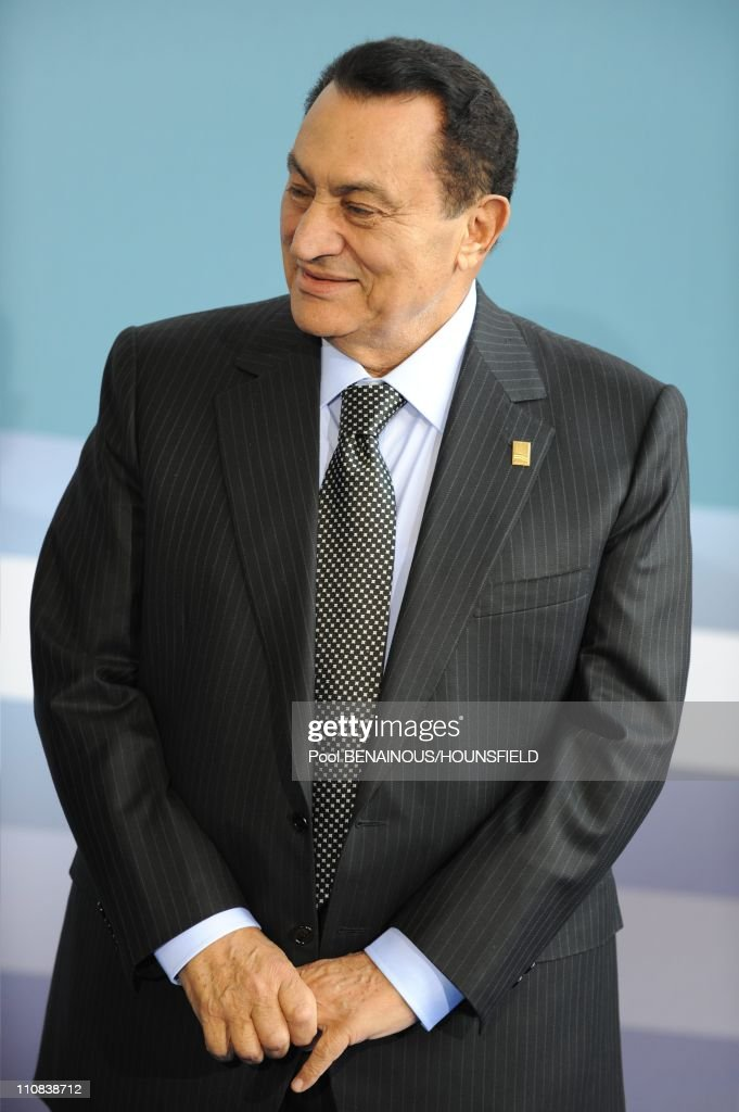 French President <a gi-track='captionPersonalityLinkClicked' href=/galleries/search?phrase=Nicolas+Sarkozy&family=editorial&specificpeople=211375 ng-click='$event.stopPropagation()'>Nicolas Sarkozy</a> Arrives To Attend The Paris' Union For The Mediterranean Founding Summit, On July 13, 2008 At The Grand Palais In Paris, France On July 13, 2008 - France's President <a gi-track='captionPersonalityLinkClicked' href=/galleries/search?phrase=Nicolas+Sarkozy&family=editorial&specificpeople=211375 ng-click='$event.stopPropagation()'>Nicolas Sarkozy</a> (L) welcomes Presidents as they arrive to attend the Paris' Union for the Mediterranean founding summit, on July 13, 2008 at the Grand Palais in Paris - French President <a gi-track='captionPersonalityLinkClicked' href=/galleries/search?phrase=Nicolas+Sarkozy&family=editorial&specificpeople=211375 ng-click='$event.stopPropagation()'>Nicolas Sarkozy</a> and 42 leaders launch today a union between Europe and its Mediterranean neighbors but tensions among Middle East countries could undermine the grand plan Egypt's President and summit co-chairman <a gi-track='captionPersonalityLinkClicked' href=/galleries/search?phrase=Hosni+Mubarak&family=editorial&specificpeople=201752 ng-click='$event.stopPropagation()'>Hosni Mubarak</a>.