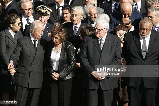 French President Nicolas Sarkozy Attends A Ceremony For The Funerals Of Former Prime Minister And Second World War Resistant Pierre Messmer At The...
