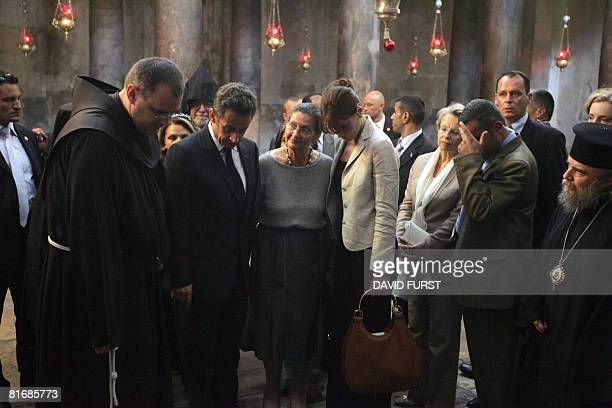 French President Nicolas Sarkozy his wife Carla French philosopher Simone Weil French Interior Minister Michelle AlliotMarie and other members of the...