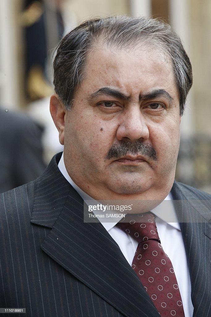 French President Nicolas Sarkozy recieves Irakian Prime Minister Nouri alMaliki at Elysee Palace in Paris France on May 04th 2009 Iraq Foreign...