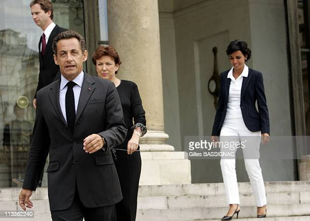 French President Nicolas Sarkozy 'S Press Conference After His Meeting With Sexually Abused Enis Her Father And Ministers In Charge Of Justice And...