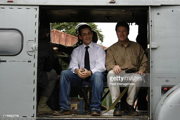 French President Nicolas Sarkozy visits the village of Camopi French Guiana on February 11 2008Nicolas Sarkozy and Christian Estrosi