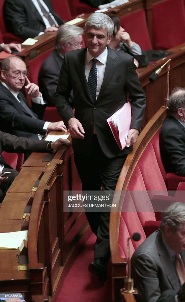 French president of Nouveau Centre (NC) party and President of National Council of Democrats (UDI-Union des démocrates et indépendants), Herve Morin, attends a debate on legalising same-sex marriage at the National Assembly on January 29, 2013 in Paris. France's parliament began examining draft legislation on same-sex marriage after months of rancorous debate and huge street protests by both supporters and opponents.