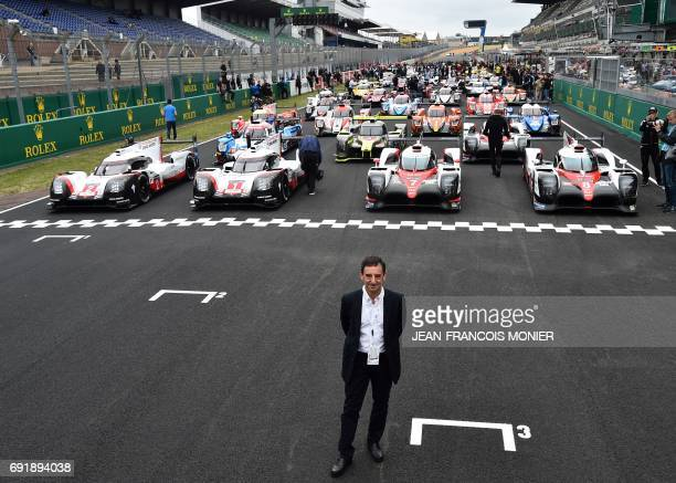 French President of the Automobile Club de lOuest Pierre Fillon in charge of the organisation of the Le Mans 24hours endurance race poses on June 3...