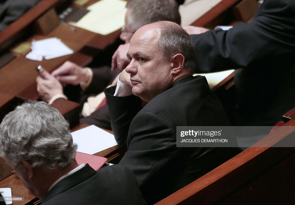 French President of the socialist group (SRC) Bruno Le Roux attends a debate on legalising same-sex marriage at the National Assembly on January 29, 2013 in Paris. France's parliament began examining draft legislation on same-sex marriage after months of rancorous debate and huge street protests by both supporters and opponents. AFP PHOTO / JACQUES DEMARTHON