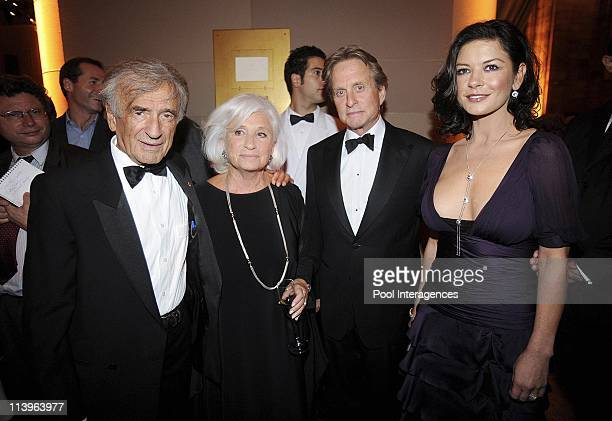 French President Sarkozy and First Lady Attend The Elie Wiesel Fondation Dinner In New York United States On September 21 2008 Elie Wiesel Marion...